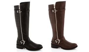 Rasolli Marco Riding Boot With Adjustable Calf