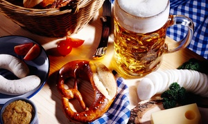 $30 for a German Meal and Beer for Two at Checkers Old Munchen (Up to $59.97 Value)