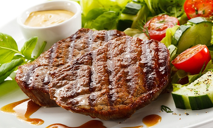 steak u beilagen nach wahl f r 2 la pampa steakhouse. Black Bedroom Furniture Sets. Home Design Ideas