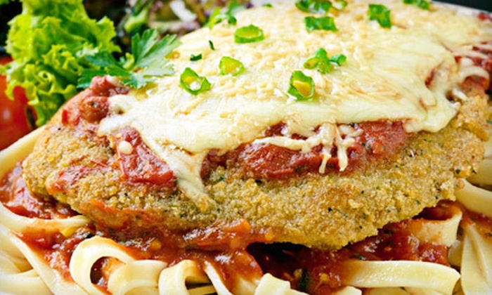 Mama Mia's of Stone Mountain Village - Stone Mountain: Italian Meal with Appetizer and Wine for Two or Four at Mama Mia's of Stone Mountain Village in Lilburn (Up to 57% Off)