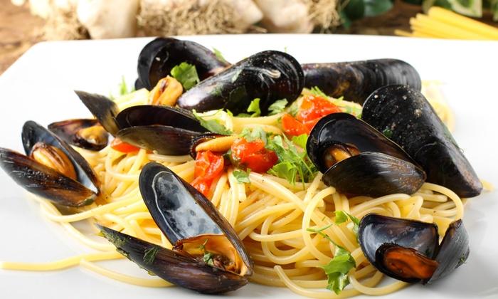 Chalet Azzurro - CHALET AZZURRO: Menu di pesce di 4 portate con vino da 34 € allo Chalet Azzurro