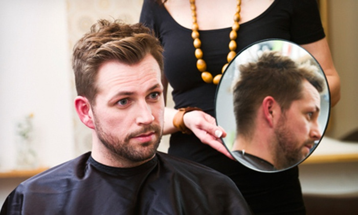Ladies & Gents Hair Studio - Groveton: One, Two, or Three Men's Haircuts with Beard and Mustache Trims at Ladies & Gents Hair Studio (Up to 60% Off)