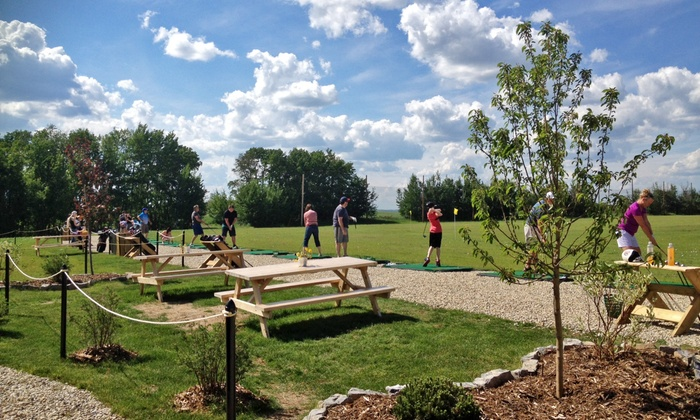 South Century Driving Range - Spruce Grove: One or Two Groupons, Each Good for Two Large Range-Ball Buckets at South Century Driving Range (Half Off)