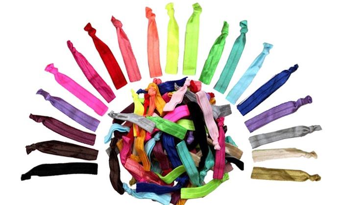 Multicolor No Damage Ribbon Hair Ties 60 Pack Livingsocial