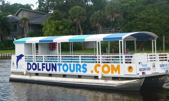 Dol FunTours, LLC - DolFun Tours: 60-Minute Morning Dolphin and Manatee Tour on the Indian River for Two or Four from DolFun Tours (Up to 54% Off)