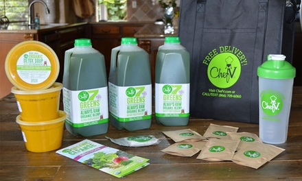 Three-, Five-, or Seven-Day Juice Cleanse with Free Delivery from Chef V (Up to 61% Off )
