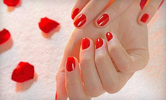 Dona's Hair Salon - Fells Point: Shellac Manicure or $50 Gift Card for Hair, Nail, or Spray-Tan Services at Dona's Hair Salon (Up to 51% Off)