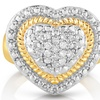 1/4 CTTW  Genuine Diamond Heart Ring