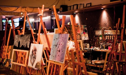 Art and Tapas for One, Two, or Four with Small Canvases and Tasting Plates at Raw Canvas (Up to 52% Off)
