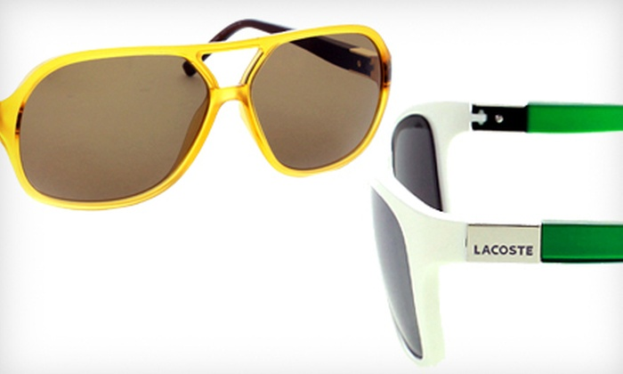 Lacoste Sunglasses: Lacoste Men's, Women's, and Unisex Sunglasses (Up to 69% Off). Multiple Styles Available.