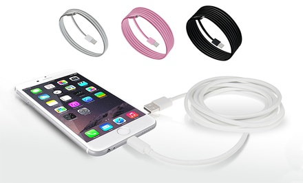 3-Pack of Apple Certified Lightning Cables (Includes 3, 6, and 10 Ft.) Pink, White & Black