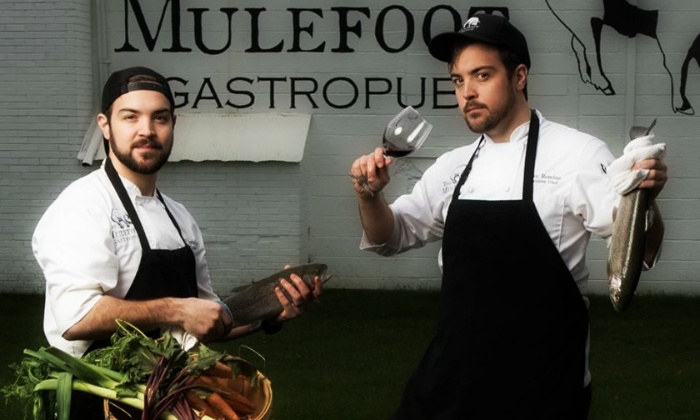 The Mulefoot Gastropub - Imlay City: $79 for Dinner for Two with Wine and Gift Certificate at The Mulefoot Gastropub ($138 Value)