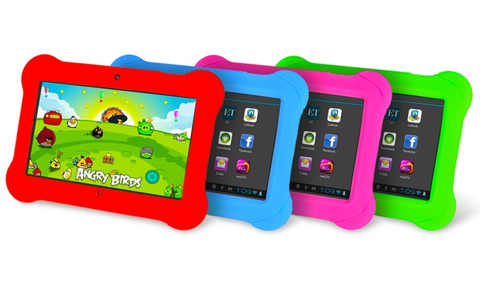 Orbo Jr. 4GB 7 Kids' Tablet with Android OS and Silicone Gel Case