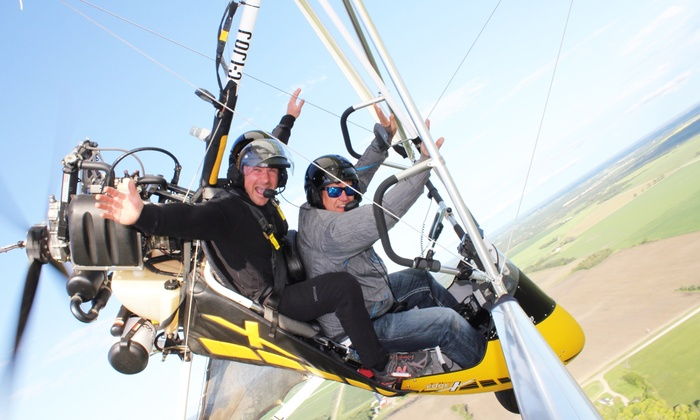 Adventure At Altitude - Steinbach Municipal Airport: Co-Pilot Hang-Glider SkyRide for One or Two from Adventure At Altitude (Up to 45% Off)