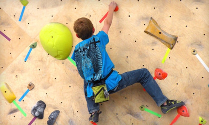 The Front Climbing Club - GARDEN CITY: Rock Climbing or Climbing-Class Packages at The Front Climbing Club (Up to 80% Off). Three Options Available.