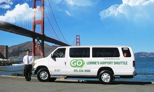 Go Lorrie's Airport Shuttle: One-Way Shared Ride To or From SFO to Downtown from Go Lorrie's Airport Shuttle (18% Off). Two Options.