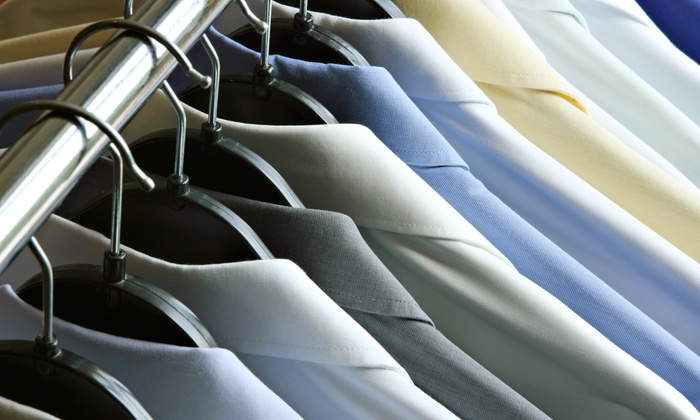Green & White - Hunters Point: $30 for $70 Worth Dry Cleaning and Delivery from Green & White