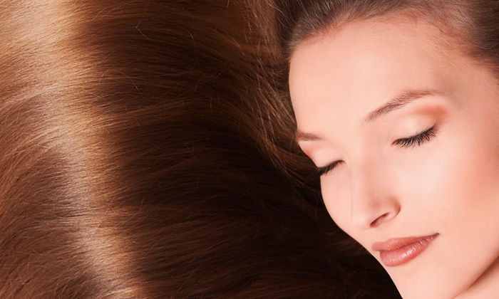 Jewels Beauty Bar - Multiple Locations: Haircut with All-Over Color or Partial Highlights, or a Keratin Treatment at Jewels Beauty Bar (Up to 72% Off)