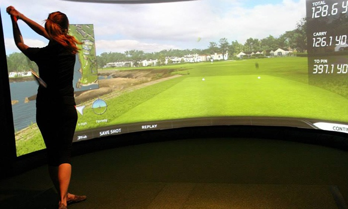Rhoderunner Golf Center - Enterprise: Golf Simulator Session or Golf Lesson with Simulator Session at Rhoderunner Golf Center (Up to 63% Off)