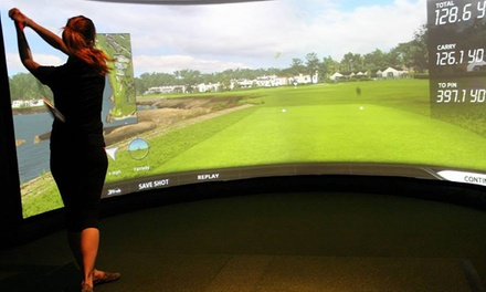 Golf Simulator Session or Golf Lesson with Simulator Session at Rhoderunner Golf Center (Up to 55% Off)