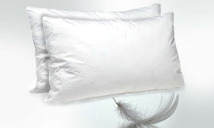 Linen Depot Direct: Set of Two Duck Feather and White Down Filled Pillows (Shipping Included)