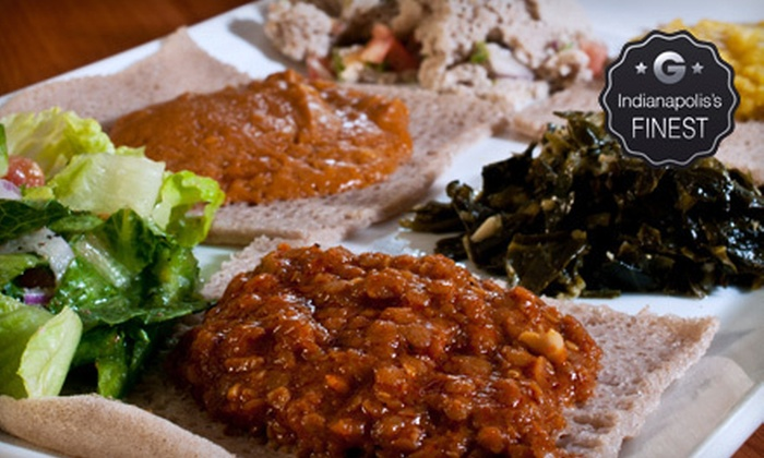 Major Restaurant - Garden City: Ethiopian Cuisine for Two or Four at Major Restaurant (Half Off)