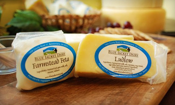 Blue Jacket Dairy - Bellefontaine: $15 for $30 Worth of Ohio-Made Cheeses at Blue Jacket Dairy