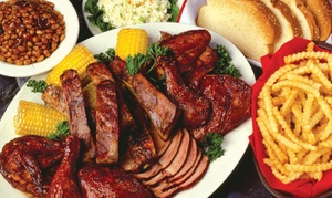Woody's Bar-B-Q: Barbecue Dinner for Two or Four, or $11 for $20 Worth of Barbecue at Woody's Bar-B-Q