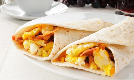 $12 for $20 Worth of Breakfast Burritos, Baked Goods, and Coffee at Basil Doc's Bistro
