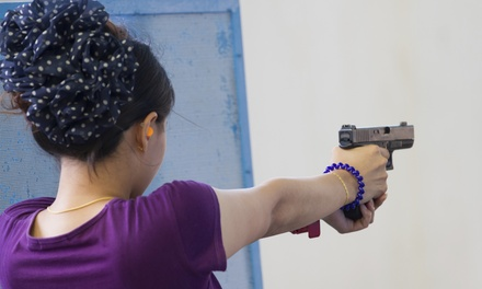 Basic or Advanced Pistol-Shooting Course or Shooting-Range Package from Sgt. Foster's (Yp to 58% Off)