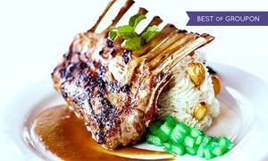 """The Van's """"Restaurant On The Hill"""": $30 for $50 Worth of Steakhouse and Seafood Cuisine for Two at The Van's """"Restaurant On The Hill"""""""