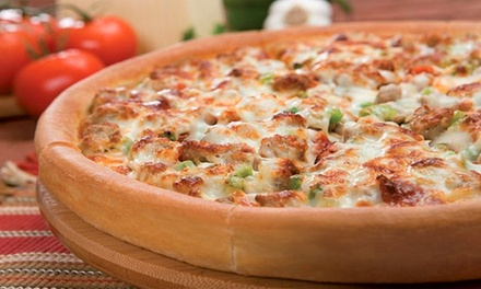 $11 for $20 Worth of Pizza, Salads, Sides, and Drinks at Godfather's Pizza in Fair Oaks