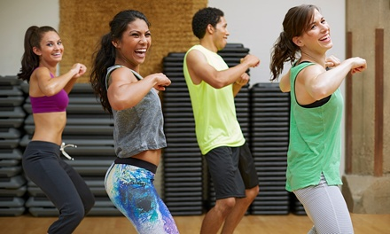 5 or 10 Kickboxing or Zumba Classes at Anytime Fitness (Up to 80% Off)