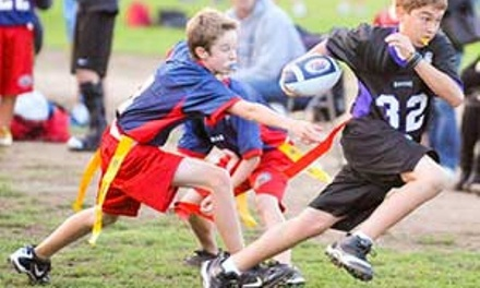 Up to 50% Off Youth Flag Football League at Central Coast Friday Night Light's Youth Flag Football