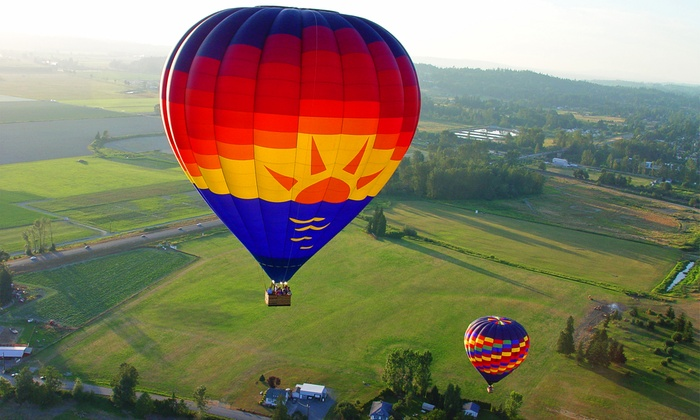 Balloon Depot - Snohomish: Sunrise Hot Air Balloon Ride for One or Two, Valid Weekdays or Weekends at Balloon Depot (Up to 14% Off)