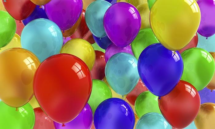 Addobbo con palloncini per feste dimensione festa groupon - Immagine con palloncini ...