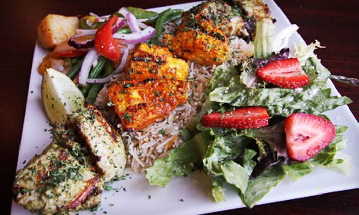 Fresh Kabobs - Multiple Locations: Indian Cuisine at Fresh Kabobs (Up to 52% Off). Three Options Available.
