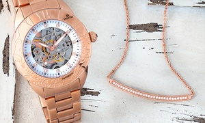 Empress Godiva Automatic Mother-Of-Pearl Skeleton Watch