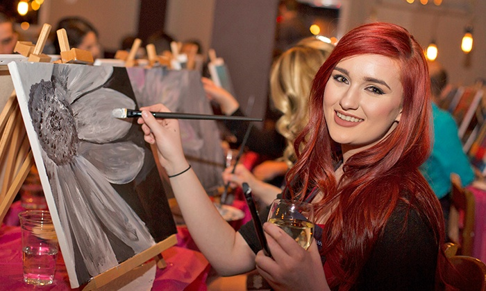 Art Tonite: Paint Party Tickets for One, Two, or Four from Art Tonite (Up to 51% Off)