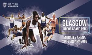 UK Athletics: Glasgow Indoor Grand Prix: Adult (£25) or Concession (£15) Ticket, 20 February at Emirates Arena