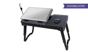 Multifunctional Laptop Table Stand with Cooling Fan and LED Light at Multifunctional Laptop Table Stand with Cooling Fan and LED Light, plus 6.0% Cash Back from Ebates.