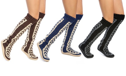 18 or 26 In. Tire-Tread-Patterned Sweater Boots from $34.99–$39.99. Multiple Colors Available.