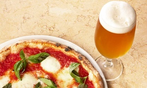 Pour Beer Market & Grill: Pizza Meal with Draft Beer or House Wine for Two or Four at Pour Beer Market & Grill (42% Off)