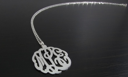 $29.99 for a Mini Monogrammed Necklace from NameJewelrySpot ($119.99 Value)