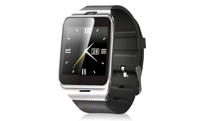 gv18 smartwatch mit kamera und sim slot groupon goods. Black Bedroom Furniture Sets. Home Design Ideas