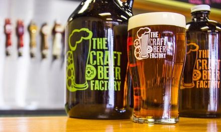Beer Tasting for Two or Four or Beer Tasting Classes for Two at The Craft Beer Factory (Up to 38% Off)