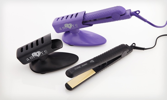 Amore Classic Ceramic Flat Iron Package: $32.99 for a Amore Classic Flat Iron Package ($250 List Price). 2 Colors Available. Free Shipping and Returns.