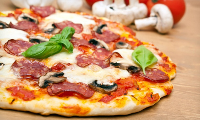 The Pizza Press - Disneyland: Two or Four Pizzas with Drinks at The Pizza Press (Up to 56% Off)