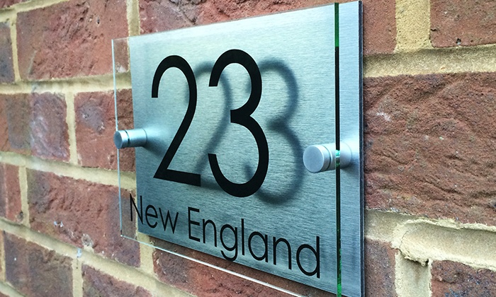 545bcd0245f7 Personalised House Sign | Groupon Goods