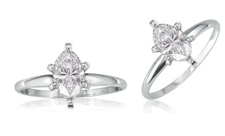 1/2-Carat Marquise-Cut Diamond Solitaire Ring